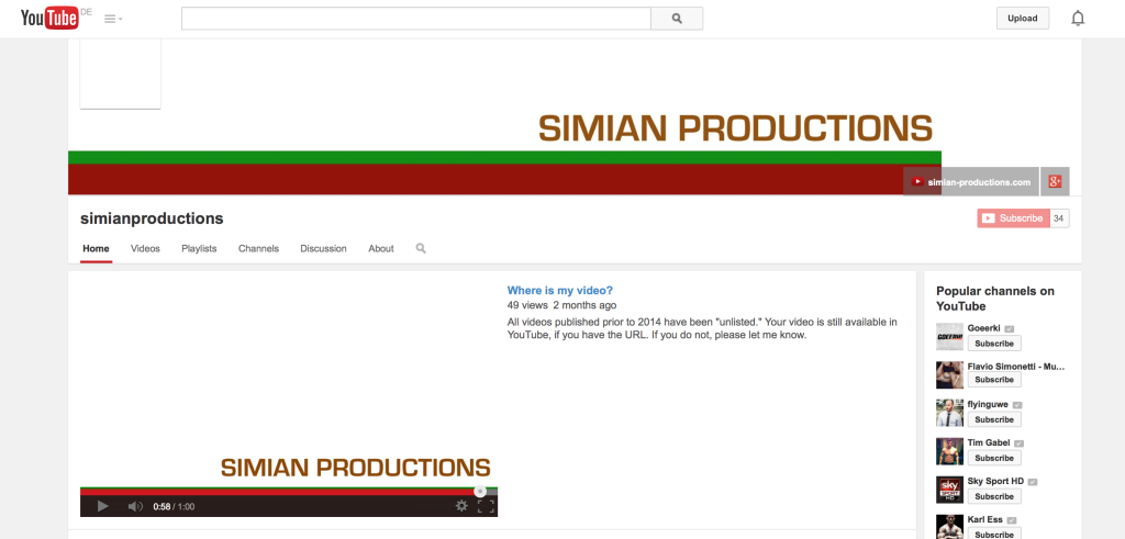 http://youtube.com/simianproductions